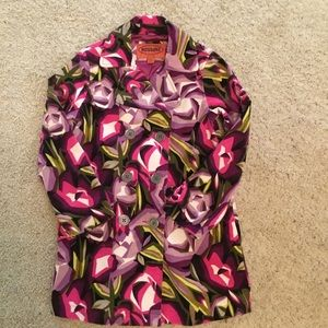 Missoni for Target Floral Velvet LS Peacoat Jacket